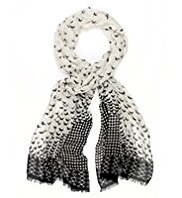 M&S Collection Lightweight Scattered Bird Print Scarf