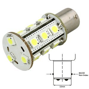 "Lunasea Lighting - Lunasea White Led Bulb Ba15D 12V Ac Or 10-30V Dc ""Product Category: Boat Outfitting/Interior / Courtesy Light"""