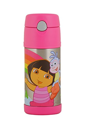 Thermos Funtainer Straw Bottle, Dora The Explorer, 12 Ounce front-942198