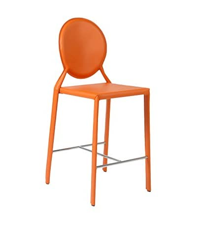 Eurostyle Isabella Counter Stool, Orange