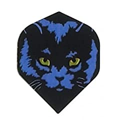 Buy 1 Set of 3 Dart Flights - 1807 - Ruthless Pussy Cat Standard Double Thick Flights by Dart Brokers