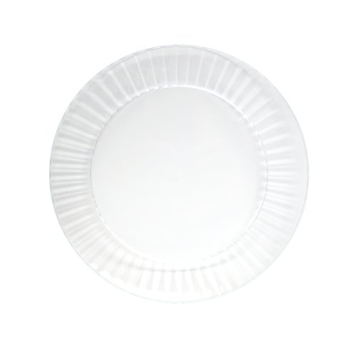 Party Essentials N7514 Deluxe Hard Plastic Round Salad Plate