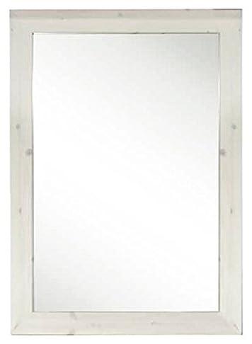 Specchio bagno rustico in legno di pino L83 -Colore Noce