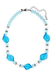 Twisted Glass Bead Collar Necklace [T06-0648D-S]