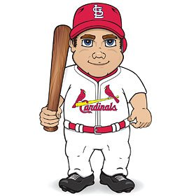 St. Louis Cardinals MLB Dancing Musical Baseball Player by Generic