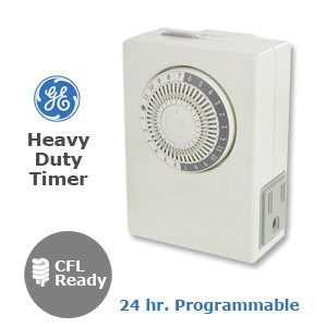 Ge 15075 24 Hour 2 Outlet Indoor Heavy Duty On/Off Timer, White front-497058