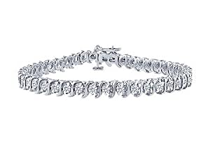 Diamond S Tennis Bracelet : Platinum - 5.00 CT Diamonds
