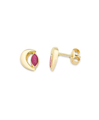 Miore 9ct Yellow Gold Ruby Stud Earrings