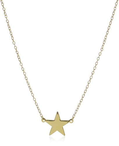Privileged NYC Star Charm Gold plated Cable Chain Necklace 18