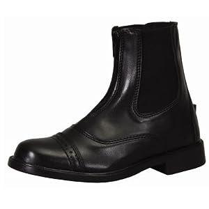 TuffRider Children's Starter Front Zip Paddock Boots, Black, 5