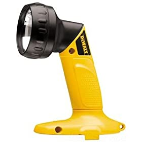 DEWALT DW908  18-Volt NiCd Pivoting Head Cordless Flashlight, No Battery