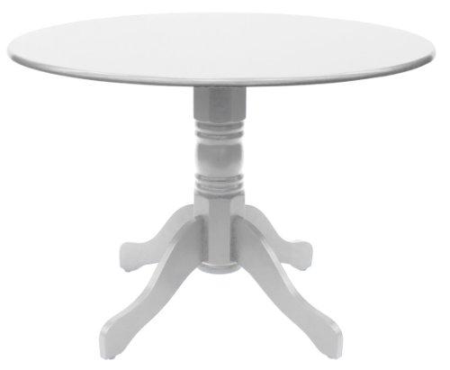 Tenzo-3247-001-TEQUILA-Designer-Esstisch-Tempo-rund-Kautschukholz-lackiert-matt-Hhe-75-cm--106-cm-wei