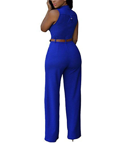 New Chic Royal Blue Jumpsuit - Backless Jumpsuit - Sleeveless Jumpsuit - $49.00