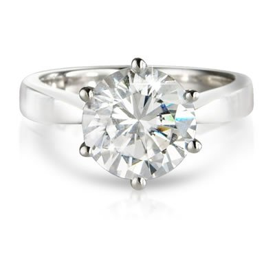 H - I/I2 - I3 0.50CT SOLITAIRE DIAMOND ENGAGEMENT RING,9K WHITE GOLD , Size H