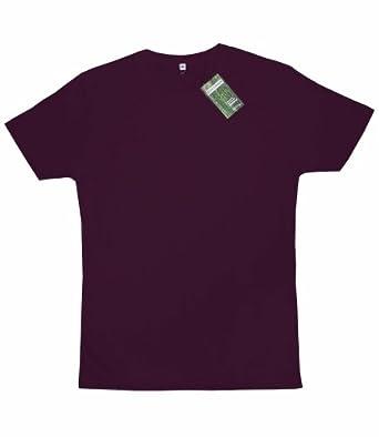 T-shirt en bambou et en coton biologique : S, aubergine