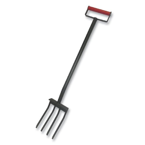 Bully Tools 92373 7-1/4-Inch Wide 4 Tine Super Fork with D-Grip Steel Handle