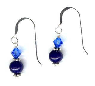 SilverChicks Exclusive - Blue Aventurine and Swarovski Earrings