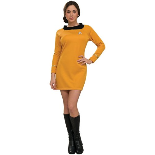 Secret Wishes  Star Trek Classic Deluxe Gold Dress, Adult Small