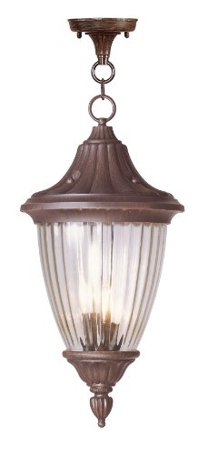 Livex Lighting 7788-58 Townsend 3 Light Outdoor Chain Hang, Imperial Bronze