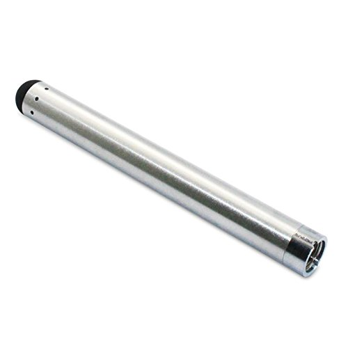 Fox-Den-Buttonless-510-Thread-Bud-Touch-Battery-O-Pen-Stylus-SILVER-with-USB-Charger