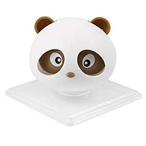 Amico Brown Panda Shaped Car Air Freshener Perfume w Square Holder from Amico