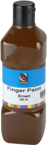 Omega Finger Paint, 500ml, Brown - 1