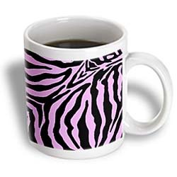 Pink and Black Zebra Print - Mugs
