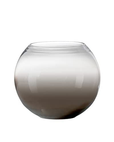 Torre & Tagus Smoke Mirror Sphere Vase Or Candle Holder, Short
