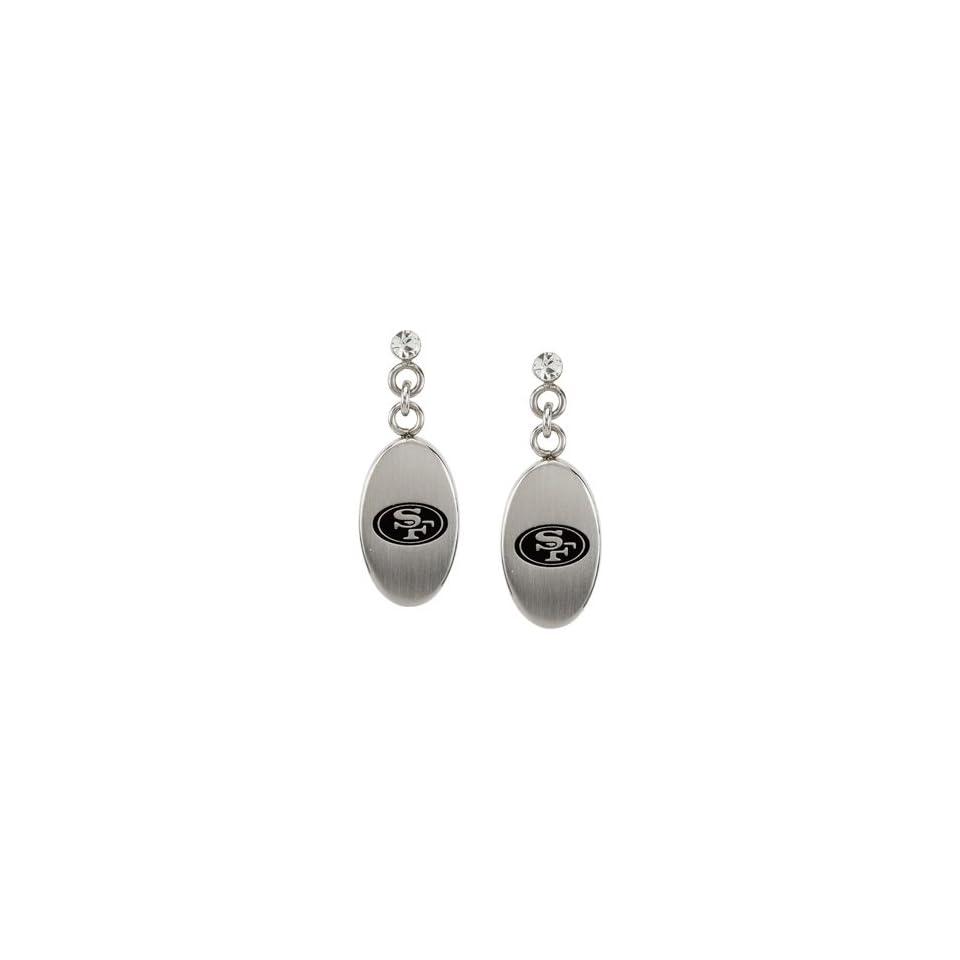 Stainless Steel San Francisco 49ers Logo Dangle Earrings