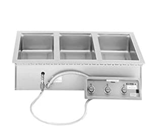 Wells MOD300 3-Pan Drop-In Hot Food Well - Infinite Control by Wells