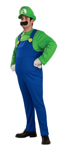Deluxe Adult Luigi Costume From Mario Brothers 889231