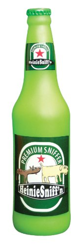 VIP Products Silly Squeakers Heinie Sniff'n Beer Bottle Dog Toy, Green