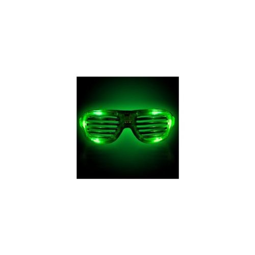 Supreme Party & Novelties LED Slotted Sunglasses, Green