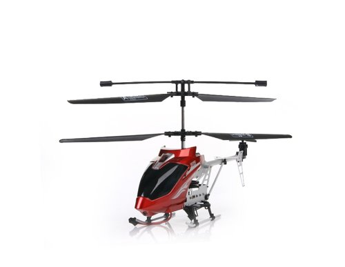 SKYSTAR 9119 3.5 Channel Metal R/C Helicopter with Built-in Gyro LED Light (Red)