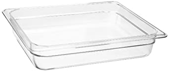 "Cambro 22CW 4.1 qt Capacity, 12-3/4"" Length x 10-7/16"" Width x 2-1/2"" Depth, Camwear Clear Polycarbonate Half Size Food Pan"