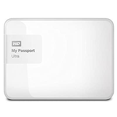 WD 3TB White My Passport Ultra Portable External Hard Drive - USB 3.0 - WDBBKD0030BWT-NESN