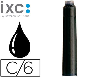 36 x Inoxcrom jet d'encre pour stylo-plume Taille: International Noir