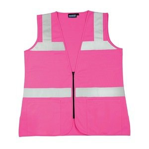 High Visibility Vest, Unrated, Pink, 3XL S721 61914