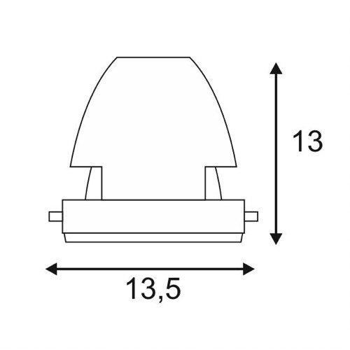 SLV COB LED Modul für Aixlight Pro Einbaurahmen, 12 Grad, weiß 115181