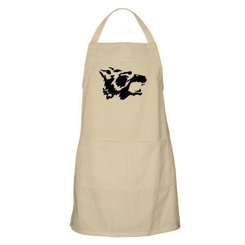 Cafepress Black Wolf BBQ Apron - Standard