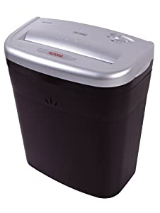 Aurora AS610C 6 Sheet Cross-Cut Shredder with Waste Bin