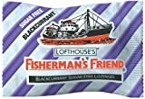 Dual pack of Fisherman's 25g Friend Blackcurrant Flavour Lozenges with Sweete...