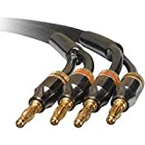 Dayton Audio SCP-15 Speaker Cable Pair w/Bananas 15 ft.