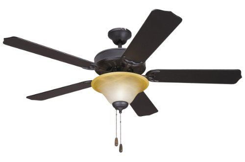 Yosemite Home Decor Yosemite Home Decor 5Bd52Vb+Lk106 Builder 52 In. Indoor Ceiling Fan With Light Kit - Venetian Bronze