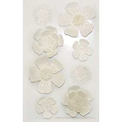 Martha Stewart Crafts Stickers, White Flowers