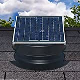 Solar Attic Fan 36-watt - Black - with 25-year Warranty - Florida Rated by Natural Light (Color: Black, Tamaño: 36-watt)
