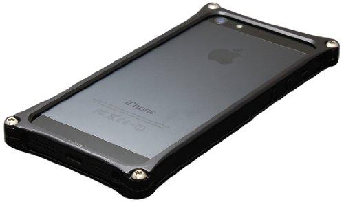 GILD design 【iPhone5対応アルミバンパー】 ソリッドバンパー for iPhone5 ブラック GI-222B