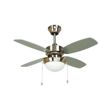 Yosemite Home Decor Ashley-Bbn 36 In. Ceiling Fan In Bright Brush Nickel Finish With 72 In. Lead Wire front-452570
