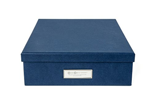 Bigso Oskar Document/Letter Box, Navy (Document Storage Box compare prices)