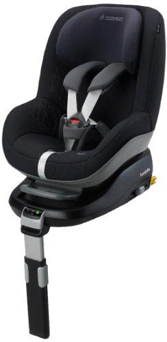Maxi-Cosi 63405941 Pearl Kinderautositz Gruppe 1 (9-18 kg), ab 9 Monate bis ca. 3.5 Jahre, FamilyFix Konzept, total black